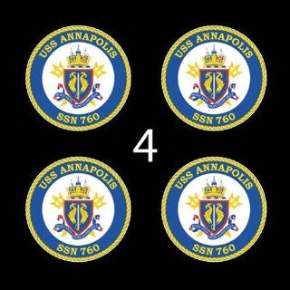 US Navy USS Annapolis SSN760 3 (4)Four Decal Sticker Lot