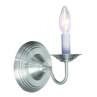 Livex 5017 91 Williamsburg Wall Sconce Brushed Nickel