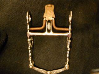 Santa Barbara Spade Horse Bit Silver Texas Star