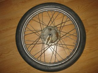 Front Wheel Drum Type Harley Ironhead Chopper Bobber Rat Bike 2 50x18