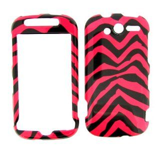 HTC MyTouch 4G (T Mobile) PINK ZEBRA COVER CASE Hard Case