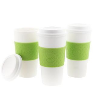 Copco Acadia Hot Cold Reusable Mug Coffee Cup Insulated Green Grip