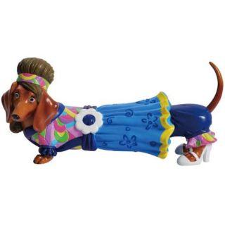 Hot Diggity Dachshund Retro Flower Power Hippie Dog Figurine Westland