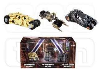 Knight Tumbler Bat Pod Die Cast Hot Wheels 3 PC Set Batman 1 50
