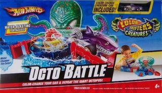 Hot Wheels Octo Battle Play Set Kids Toys Color Change Octobattle