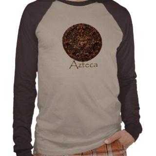 AZTEC Sun Calender Mexican HIstoric Art T Shirt