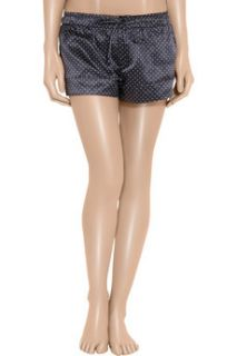 Aubin & Wills Winsford polka dot silk blend pajama shorts
