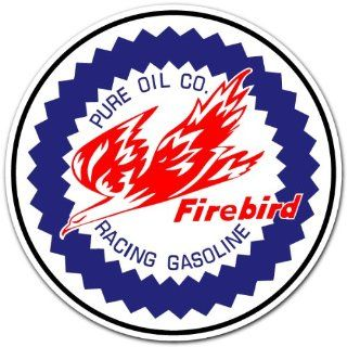Pure Oil Firebird Racing Car Bumper Sticker Decal 4x4
