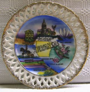 Arkansas Souvenir Plate Hot Springs Arkansas Traveler