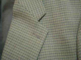Pure New Wool Blazer Sport Coat Suit Jacket Houndstooth 44 R