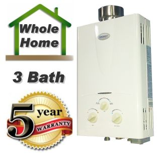 Tankless Hot Water Heater 3 1 GPM Natural Gas 3 Bath Whole House Marey