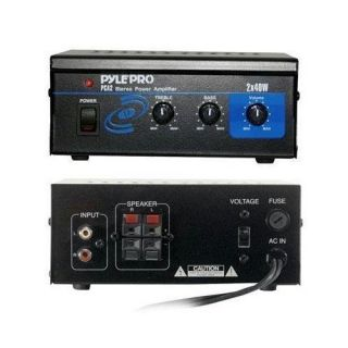 Pyle Home 80 W Audio Stereo Mini Dj MP3 3 5mm RCA Power Amplifier Pro