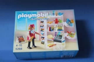 Playmobil Gift Shop Hotel Supermarket Summer Fun New 5268