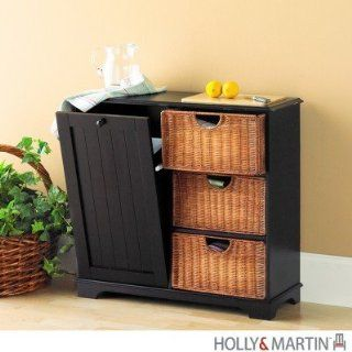Holly & Martin Wiesner Trash Bin Storage Table   Black
