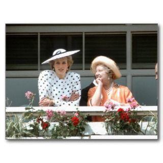 No.179 Princess Diana & Queen Mother 1986 Post Card