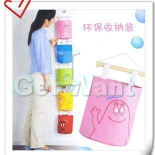 Wall Hang Up Cloth Stuff Organizer Home Storage Pouch Bag Case