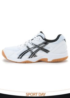 BN Asics Gel Doha Volleyball Vadminton Shoes White Black Silver B200Y