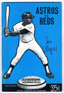 1971 Houston Astros V Cincinnati Reds Program Pete Rose Johnny Bench