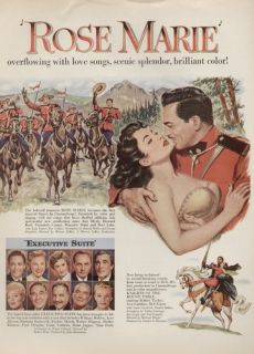 1954 Original Romantic Movie Ad Poster Ann Blyth Howard Keel