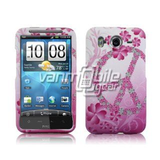 VMG HTC Inspire Design Hard Case Cover   Pink Peace Floral