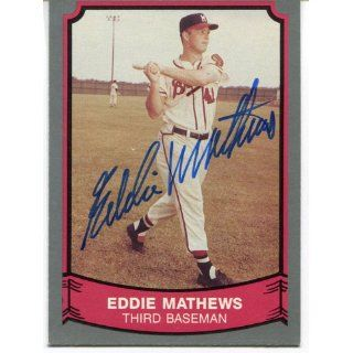 Eddie Mathews Autographed 1989 Pacific Card Sports