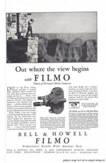 1930 Bell & Howell Filmo Movie Camera 7 Vintage Print Ads Professional