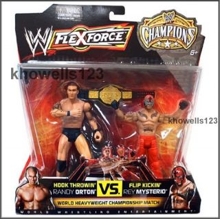 WWE Flexforce Wrestler Figure Double Pack ★ Randy Orton V Rey