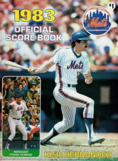 1983 New York Mets Official Score Book Keith Hernandez Product Image