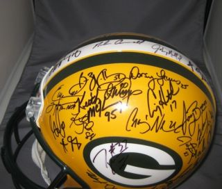 Green Bay Packers Team Signed Proline Helmet SB XXXI