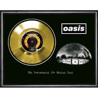 Oasis The Importance Of Being Idle Framed Gold Record A3