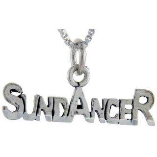 925 Sterling Silver Sun Dancer Talking Pendant (w/ 18