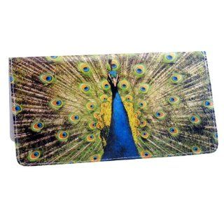 Proud Peacock Checkbook Cover Clothing