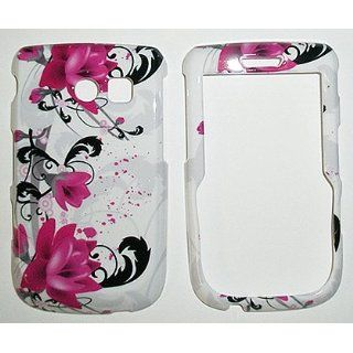 Red Pink Flower on White Snap on Hard Skin Shell Protector