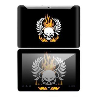 Flame Skull Design Decorative Skin Cover Decal Sticker for