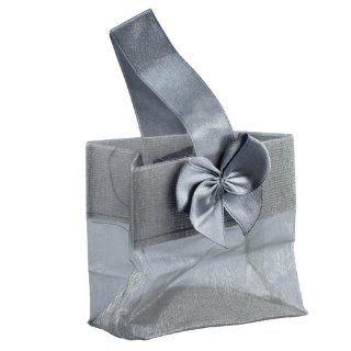 Mini Sheer Organza Tote Silver Wedding Bridal Shower Favor