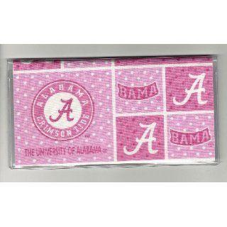 Checkbook Cover University of Alabama Crimson Tide Pink