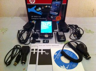HP IPAQ 214 Handheld PDA GPS GlobalSat BT 338 Receiver 8gb MemoryCard