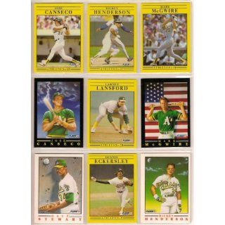 Oakland Athletics 1991 Fleer Baseball Team Set (Jose