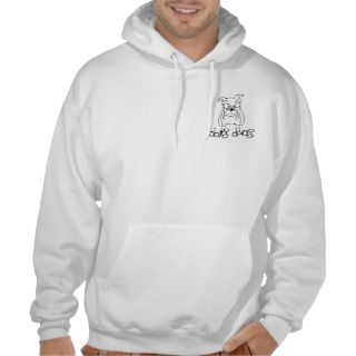 bbig ddog Bulldog head hooded sweatshirt