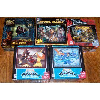 5 100 Pc. Puzzle Lot 2 Avatar, Star Wars, Kong