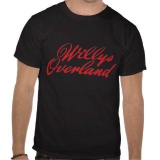 Willys Overland script emblem Tee Shirts