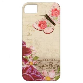 French Floral Carte Postale iPhone 5 Cases