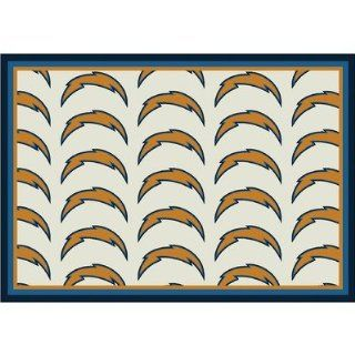 NFL Team Repeat San Diego Chargers Football Rug Size 109