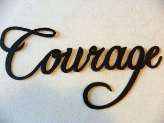 Courage Word Metal Wall Art Home Decor