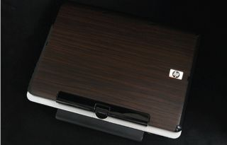 HP TX 2000 2500 Laptop Cover Skin Walnut Wood