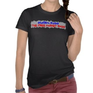 Statism Sucks Ladies Tops Tee Shirt