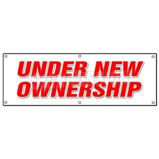72 UNDER NEW OWNERSHIP BANNER SIGN brand owner owners