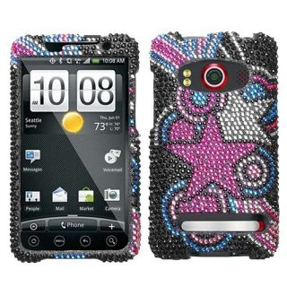 Vivid Stars Crystal Bling Case Phone Cover HTC EVO 4G