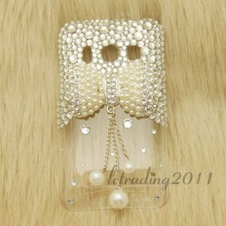 Pearl Bow Bling Phone Cases for HTC EVO 4G