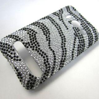 Bling Diamond Rhinestone Zebra Phone Cover Case for HTC EVO 4G